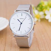 """Женские наручные часы """"GENEVE"""" на серебристом браслете (кварцевые)"""