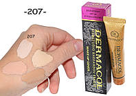 ТОНАЛЬНЫЙ КРЕМ DERMACOL Дермакол (ПЛОТНЫЙ) 30 G, ТОН 207 розово-персиковый