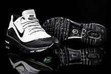 Мужские кроссовки Nike Air Max Elite - 2018 бело - черные топ реплика, фото 2