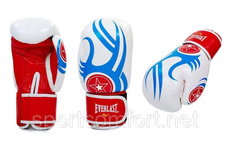 Перчатки для бокса кожа Everlast Flash 10 oz реплика