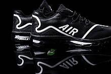 Мужские кроссовки Nike Air Max Elite - 2018 черно - белые топ реплика, фото 3