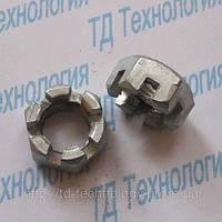 Гайки шестигранные прорезные низкие с уменьшенным размером под ключ ГОСТ 5935-73