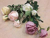 Цветы искусственные Роза, ветки розочки 46 см