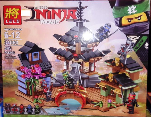 Конструктор Lele 31060 Ninja Ninjago Храм Аэроджитсу 445 дет