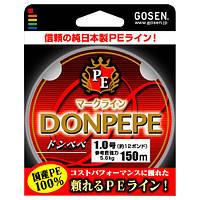 Шнур Gosen Donpepe 150м PE1.5(0.205мм)17lb*