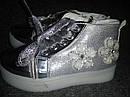 Демисезонные модные ботинки на девочку Размеры 25, 28 Серебро, фото 2