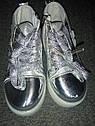 Демисезонные модные ботинки на девочку Размеры 25, 28 Серебро, фото 3