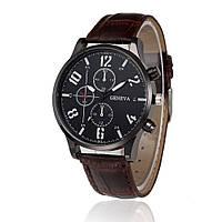"""Мужские наручные часы """"Geneva Luxury"""" коричневые"""