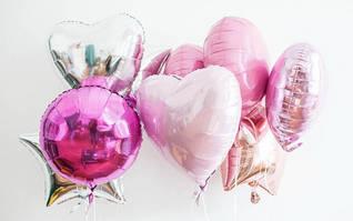 Фольгированные шары для оформления (звезды, круглые, сердца)