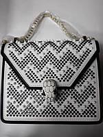 Модная сумка-клатч через плечо Bulgari, кожа
