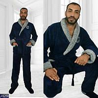 "Домашний костюм мужской (48-50;52-54) ""Poncho"" - купить оптом со склада 2P/GA-4653"