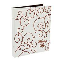 Фотоальбом свадебный кожаная обложка, 20 магнитных листов, белый 35-33-6 см.
