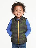 Детский дутый жилет для мальчика, р. 74 см - 79 см (12-18М)
