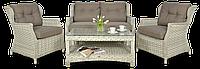 Набор  ротанга BILBAO 2 MELANGE WHITE диван + кресла + стол