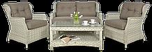 Набір  ротангу BILBAO 2 MELANGE WHITE диван+крісла+стіл