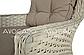Набір  ротангу BILBAO 2 MELANGE WHITE диван+крісла+стіл, фото 2