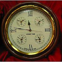 Часы настенные круглые Мировое время