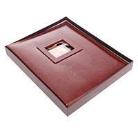 """Фотоальбом магнитный 20 листов """"Сердце из роз"""" кожзам в коробке 34х28х4,2 см"""