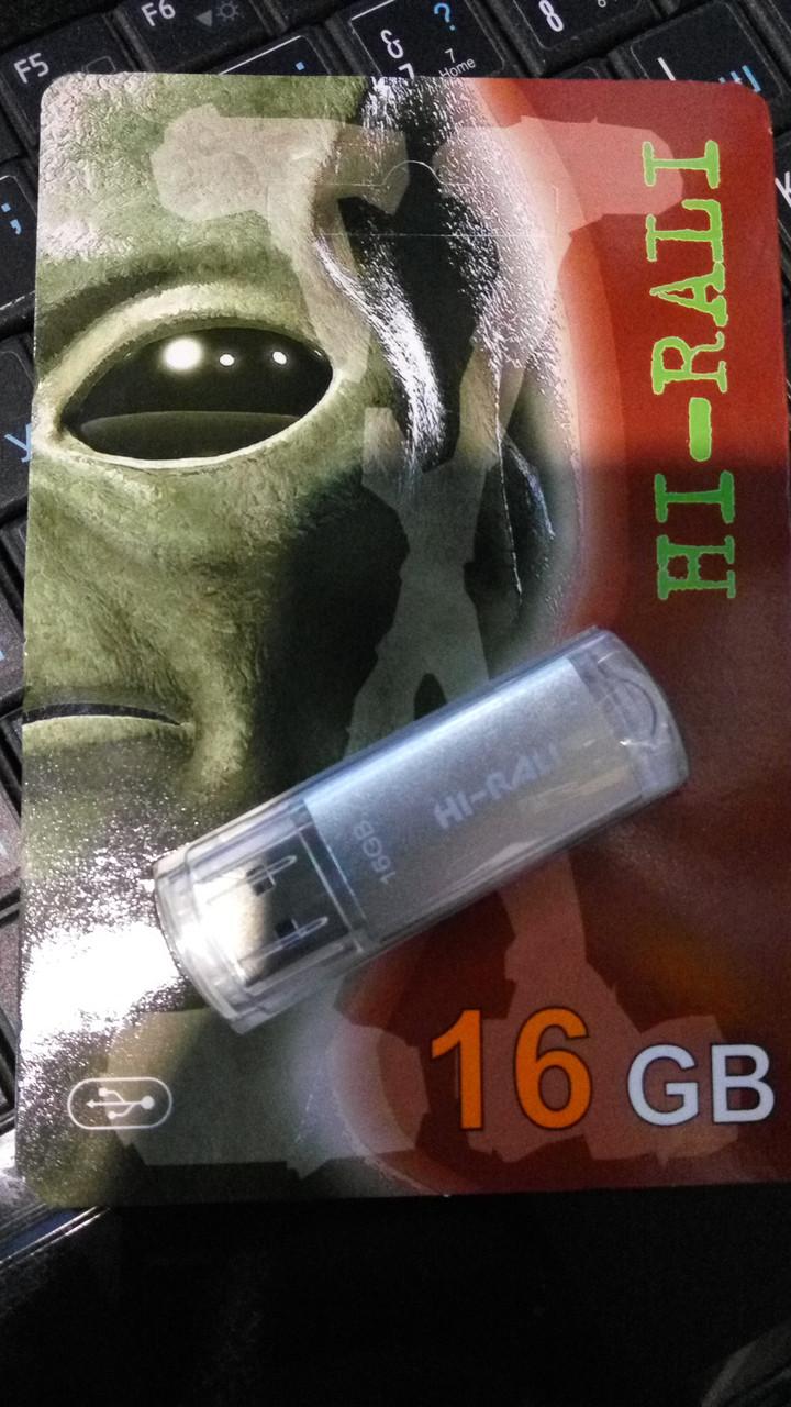 Флешка Hi-Rali 16GB Corsair series Silver