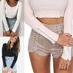 Стильная блуза из трикотажа
