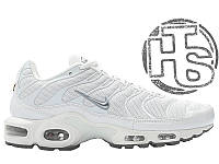 Мужские кроссовки Nike Air Max Plus TN White/Metallic Silver 46