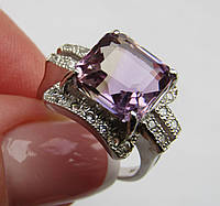 Серебряное кольцо с бразильским аметрином (10х10)