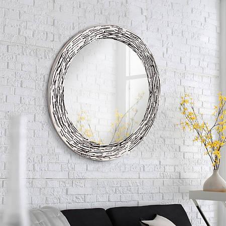 Круглое зеркало с УФ печатью 800 мм