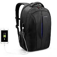 """Рюкзак для ноутбука 15,6"""" Тigernu T-B3105 USB черный с синим"""