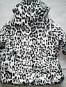 Куртка демисезонная принтованная с искусственным мехом 4-5 лет, фото 3