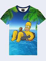 Футболка Гомер на море