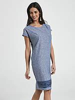 Летнее платье из льна голубого цвета. Модель 250102 Enny, коллекция весна-лето 2018