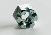 Гайки прорезные и корончатые  ГОСТ 5918-73, 5932-73, DIN 935 высокопрочные 8.0, 10.0, 12.0 класс прочности