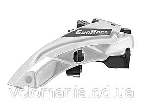 Переключатель пер. SUN RACE M500 8/7S, 42-34-24T, диаметр 34.9, адаптер под 31.8 и 28.6. Dual Pull