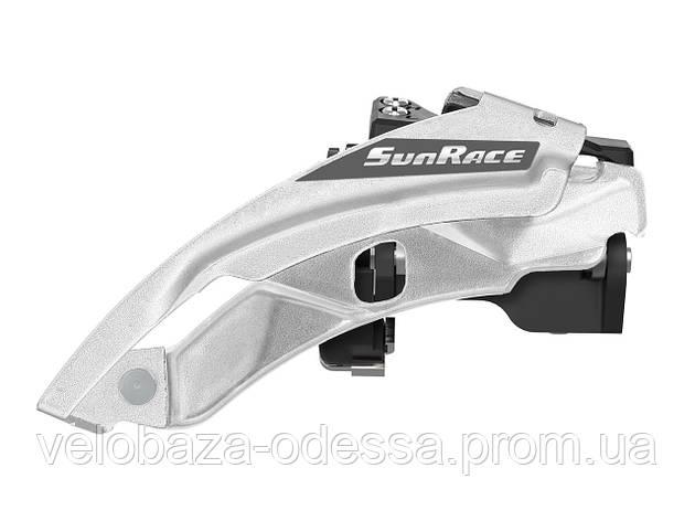 Переключатель пер. SUN RACE M500 8/7S, 42-34-24T, диаметр 34.9, адаптер под 31.8 и 28.6. Dual Pull, фото 2