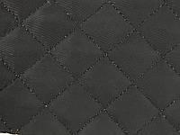 Плащевка стеганая на синтепоне цвет черный квадрат 2х2