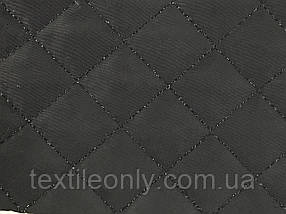 Плащівка стьобана на синтепоні колір чорний квадрат 2х2