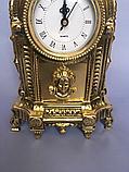 """Часы каминные """"Индия с подсвечником"""" бронза, фото 2"""