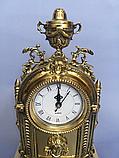 """Часы каминные """"Индия с подсвечником"""" бронза, фото 3"""