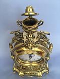 """Часы каминные """"Индия с подсвечником"""" бронза, фото 4"""