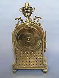 """Часы каминные """"Индия с подсвечником"""" бронза, фото 6"""