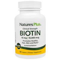 Nature's Plus, Биотин, с замедленным высвобождением, 90 таблеток, фото 1