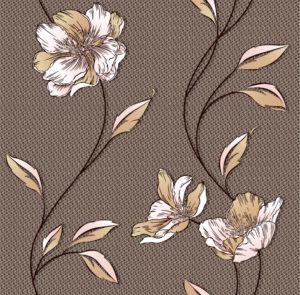 Обои бумажные Континент Луиза коричневая 1300