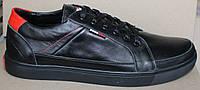 Кеды мужские кожаные на толстой подошве, мужские кеды кожаные от производителя модель АН48, фото 1
