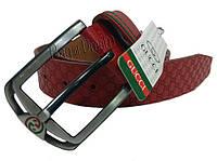 Ремень для мужчин Gucci GC31 (красный/тиснение)