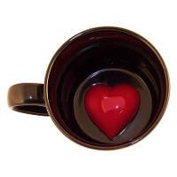 """Чашка с сердцем """"Скрытая любовь"""" 250 мл ( подарок на 14 февраля )"""