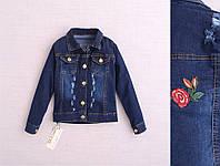Джинсовый пиджак для девочки на возраст 3-4, 5-6, 6-7, 7-8лет Турция;