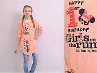 Модный комплект блуза, майка для девочки на возраст 11-12лет Турция;