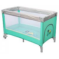 Манеж-кровать Baby Mix Горобчики HR-8052 181 mint мятный
