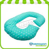 Подушка для беременных KIDIGO G-образная Звезды (с наволочкой)