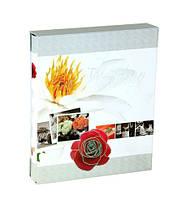 """Фотоальбом свадебный магнитный на 20 листов """"Свежая роза"""" в коробке , фото 1"""